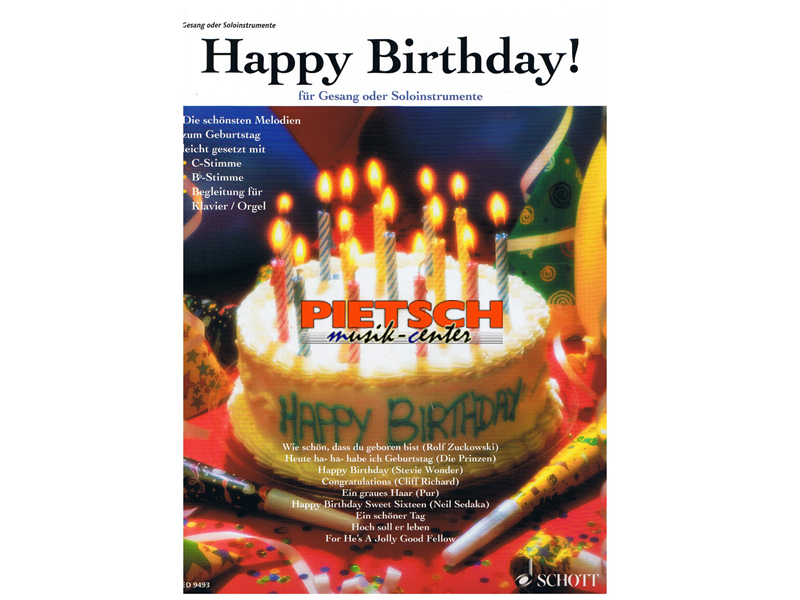 schott musikverlag happy birthday sonstige liederbà cher noten
