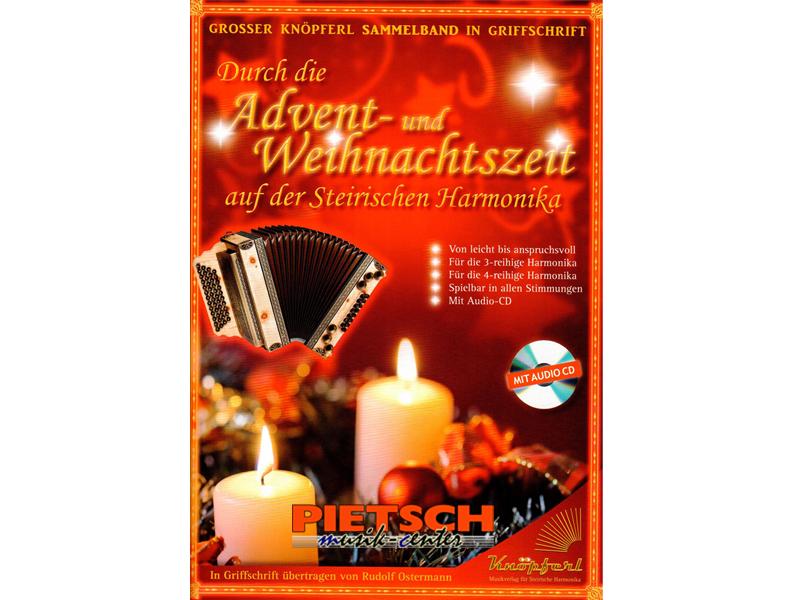 Kn'pferl Musikverlag, Durch die Advent- und Weihnachtszeit, auf der Steirischen Harmonika mit. CD